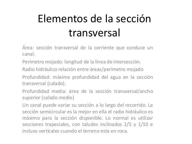 Elementos de la sección transversal