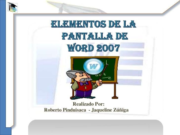 Elementos De La Ventana De Word 2007