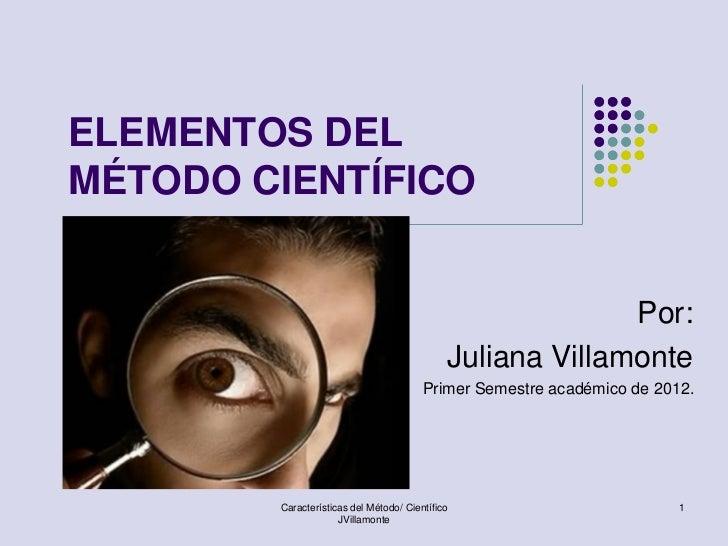 Elementos del método científico