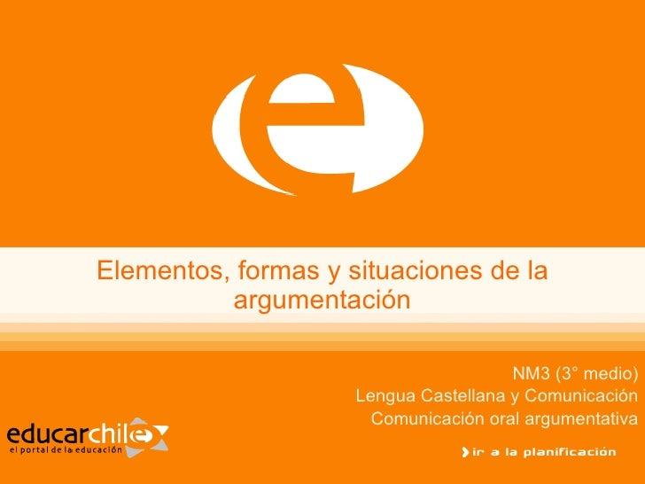 Elementos, Formas Y Situaciones De La Argumentacion 0