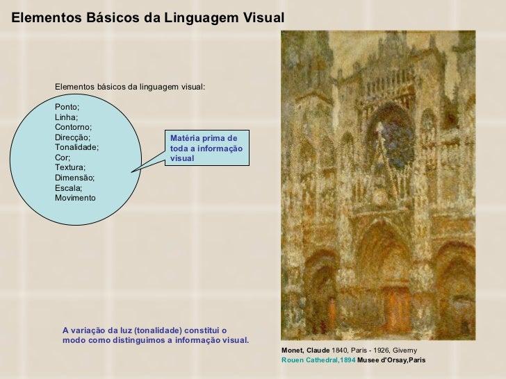 Elementos Básicos da Linguagem Visual A variação da luz (tonalidade) constitui o modo como distinguimos a informação visua...