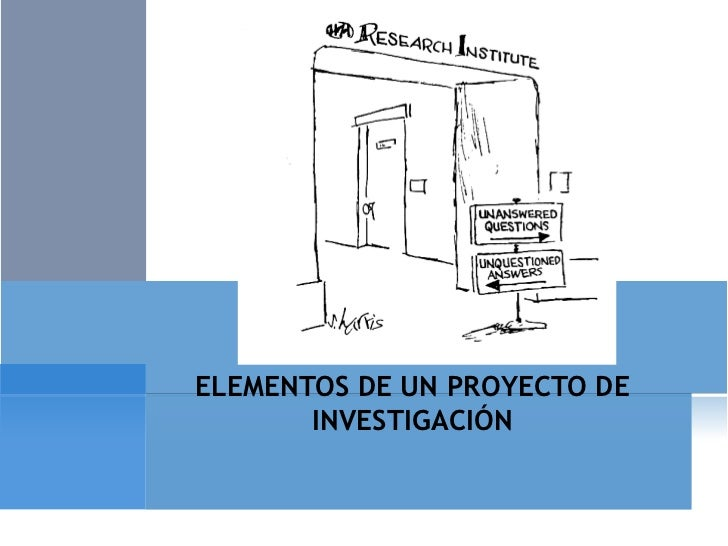 investigacion elementos: