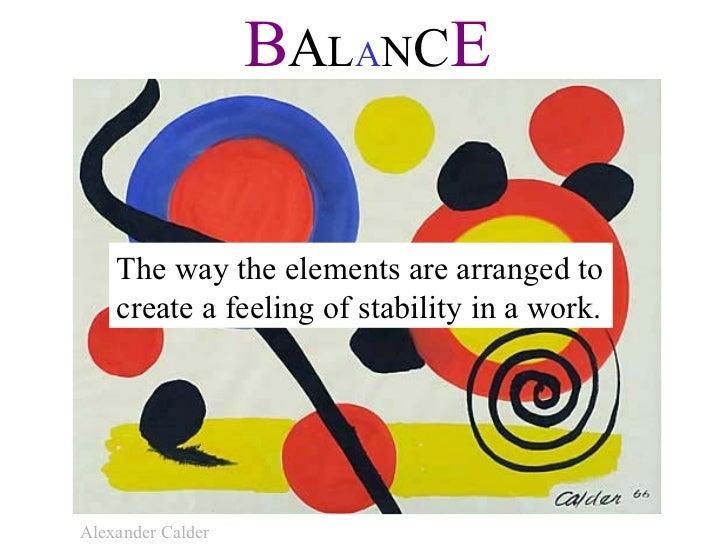 Elements Of Art Balance : Elements and principles of art