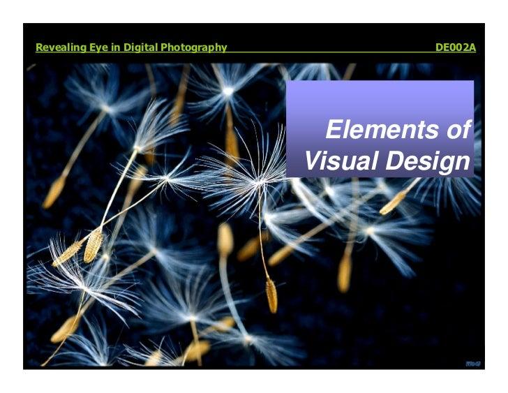 Revealing Eye in Digital Photography             DE002A                                              Elements of          ...