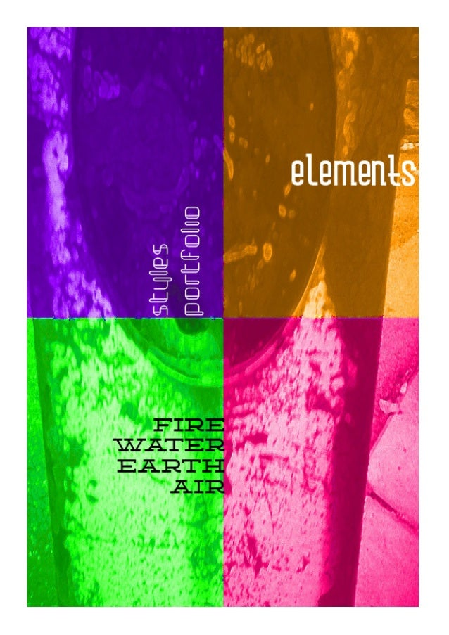 Elements1 - style book and portfolio for all your design needs