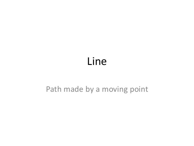 Line Path made by a moving point