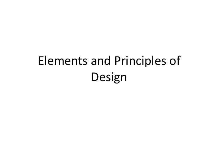Sarahi & Valentin Elements and principles of design