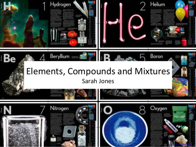 Elements, Compounds and Mixtures Sarah Jones  csironewsblog.com