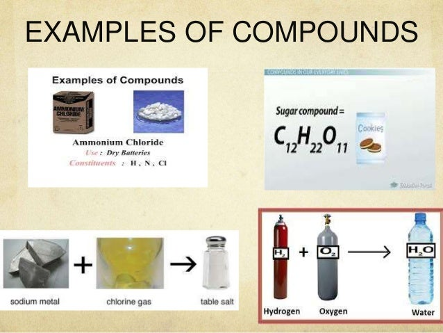 Pics For > Example Of Compound In Science