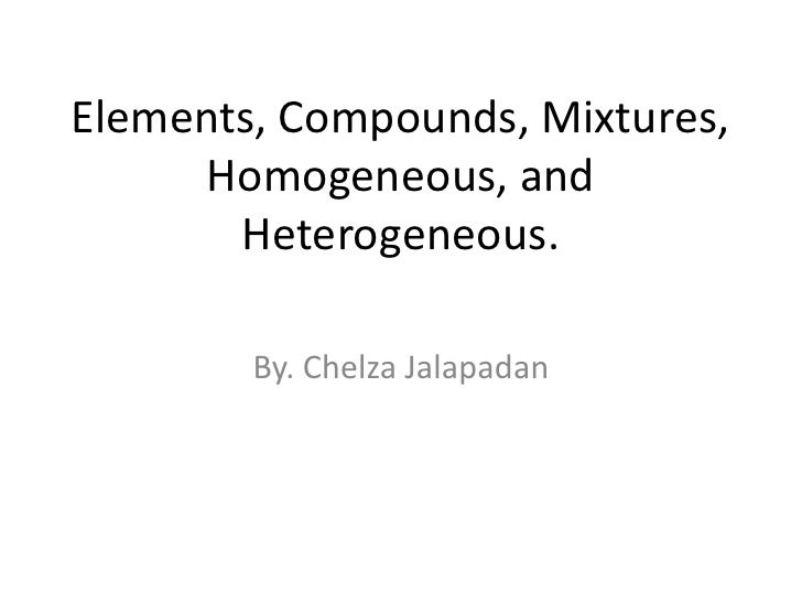 What types of compounds, elements, and mixtures can you find in your house?