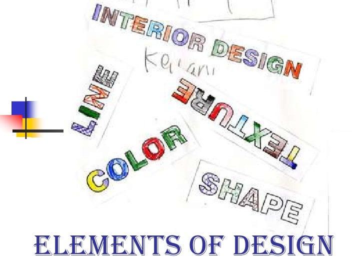 Elements of Design<br />