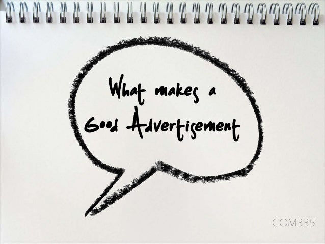 Elements of Advertisements