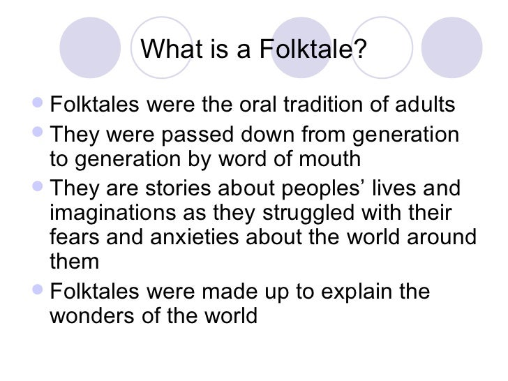 Elements of a folktale for Tale definition