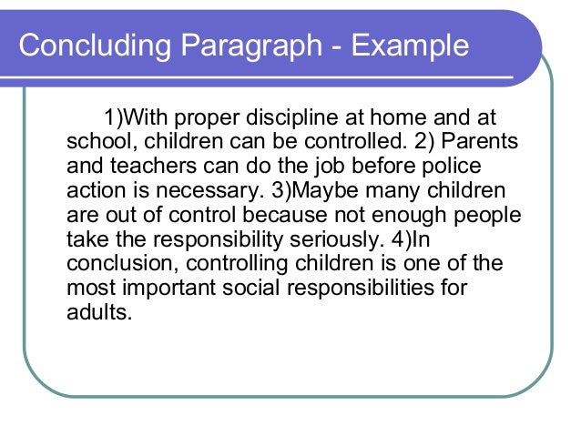 Child discipline essay