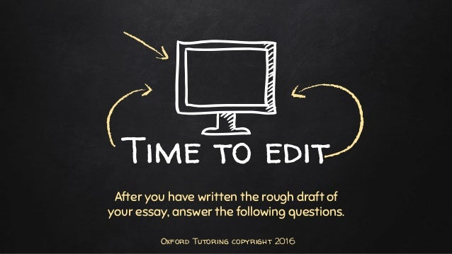 Important steps in revising and editing an essay