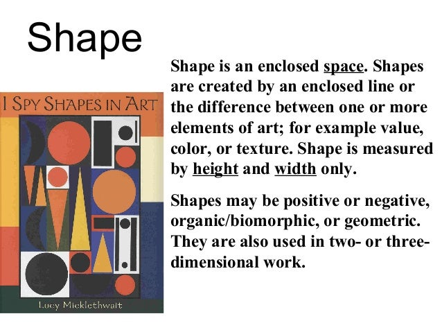 Elements Of Art Shape Examples : Elements of art