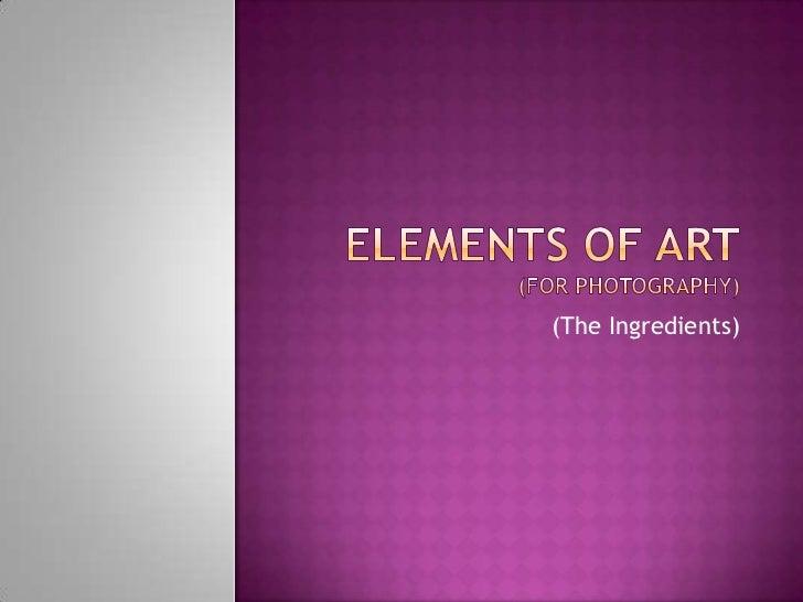 elements of art essay