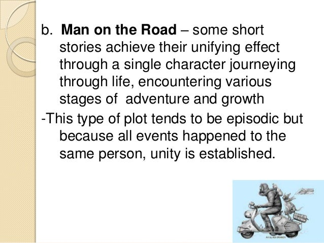 an analysis of the characters in the short story on the road Most people in north america know of the short film based on the 1890 short story by american ambrose bierce, an occurrence at owl creek bridge,  woodman's road.