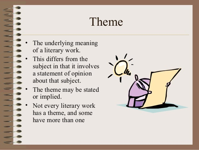 Theme Literary Device