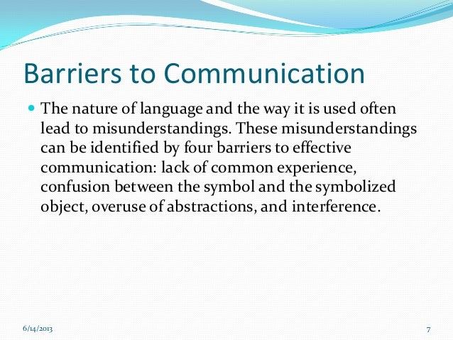 four barriers to communication To overcome barriers to communication  46 overcoming barriers to effective written communication by university of minnesota is licensed under a creative commons.