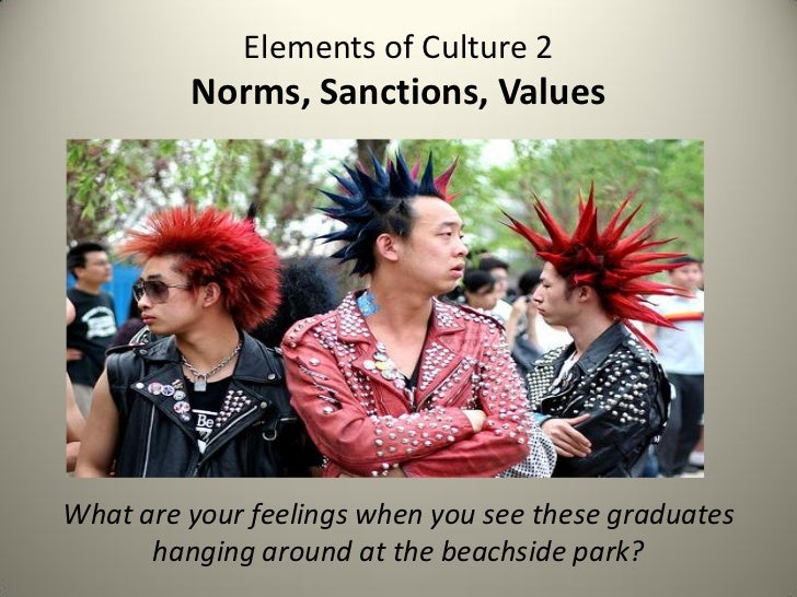Elements of Culture 2         Norms, Sanctions, ValuesWhat are your feelings when you see these graduates      hanging aro...