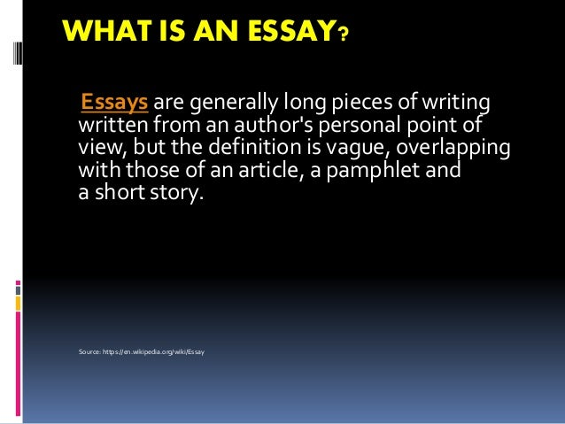 Elements of an essay?