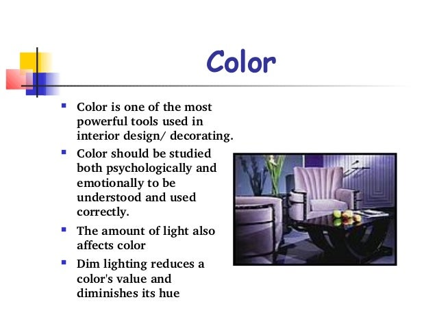 What are the elements of interior design for Room design elements