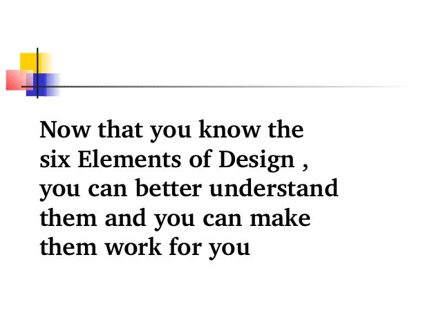 Elements and principles of interior design ppt for Basic elements of interior design