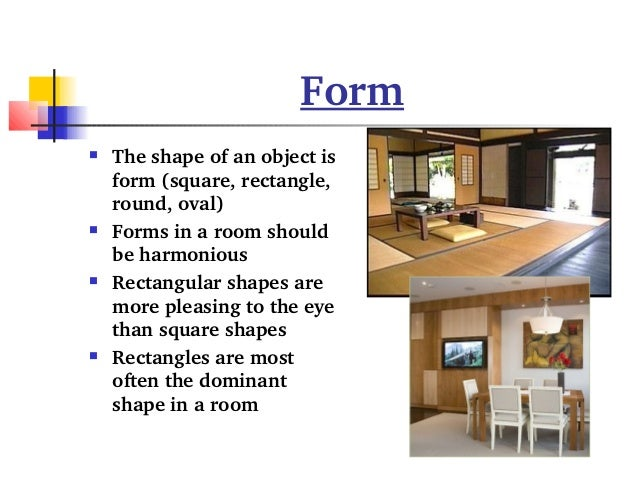 Elements Of Design Shape And Form : What are the elements of interior design