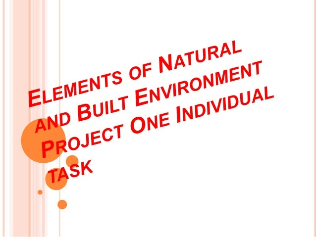 INTRODUCTIONThis is our first project of Elements of Natural andBuilt Environment a.k.a ENBE.The main purpose of this proj...