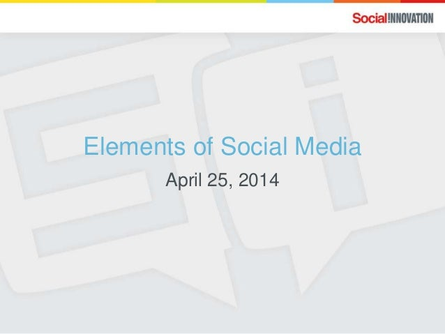 Elements of Social Media for ASAE