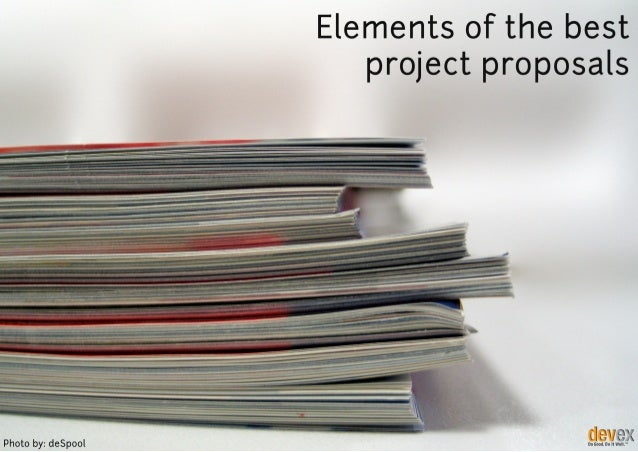 Elements of the Best Project Proposals