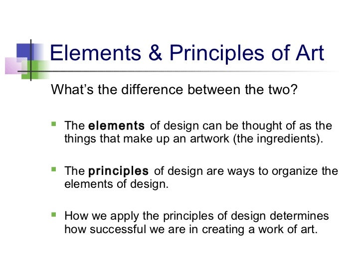 What Is Art And Design : Elements principles of design
