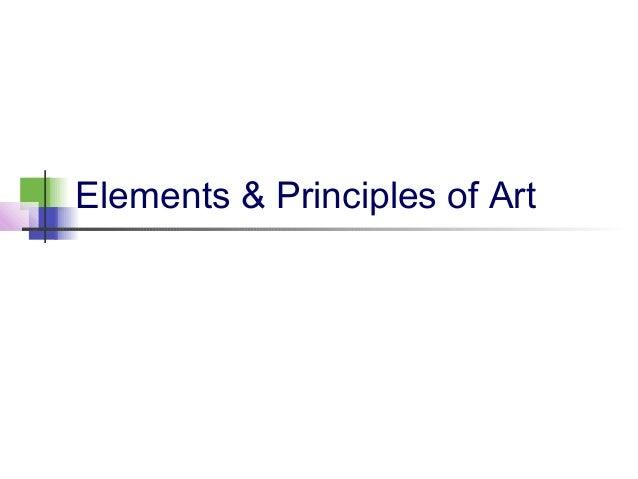 Elements & principles of art