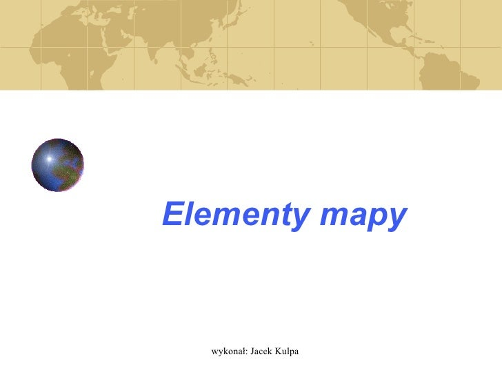 Elementy mapy