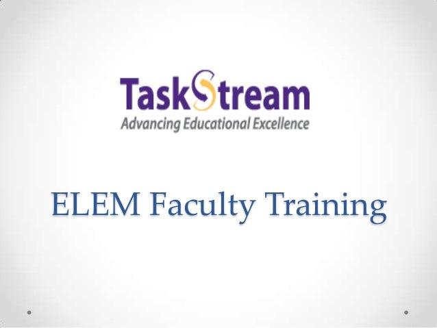 ELEM Faculty Training