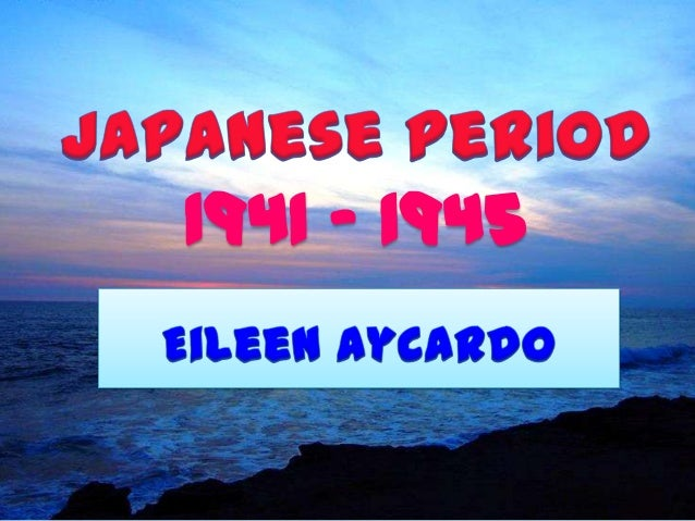 Japanese Period of the Philippine Literature