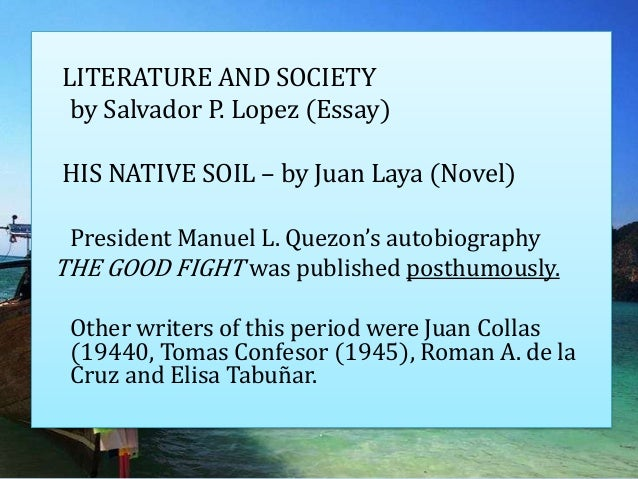 essays literature society