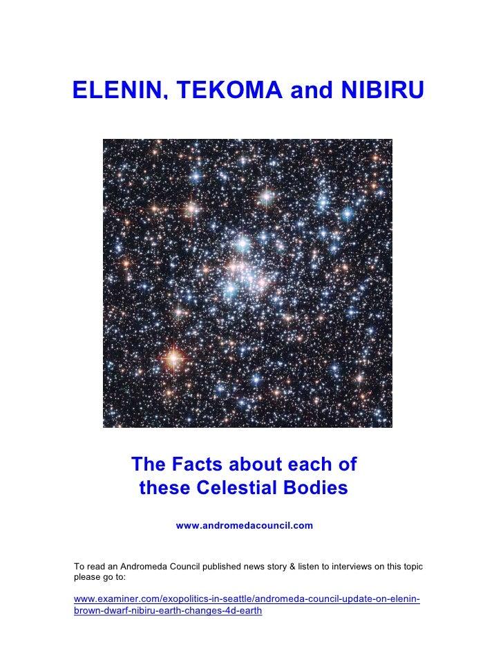 Elenin, Tekoma (a brown dwarf), Nibiru