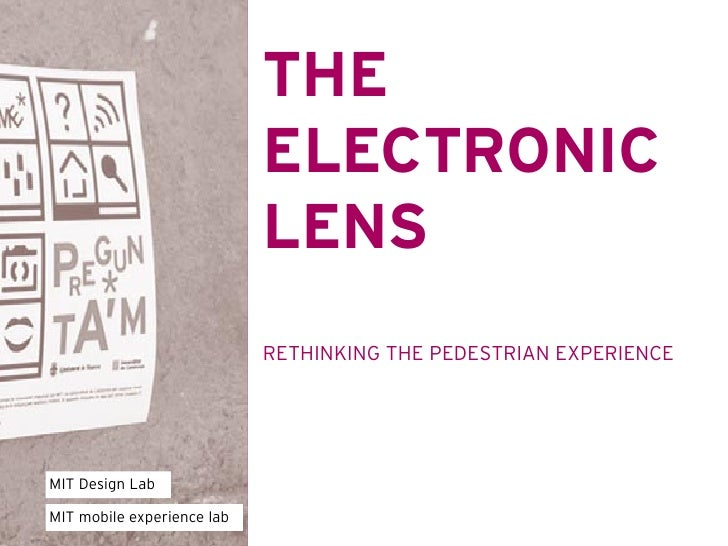 THE                             ELECTRONIC                             LENS                             RETHINKING THE PED...
