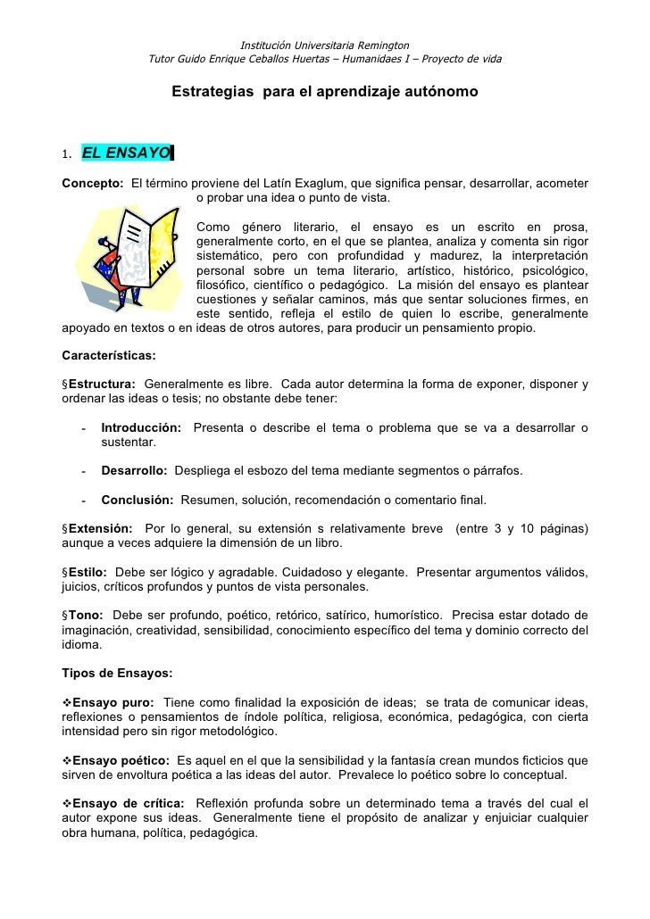 Institución Universitaria Remington                 Tutor Guido Enrique Ceballos Huertas – Humanidaes I – Proyecto de vida...