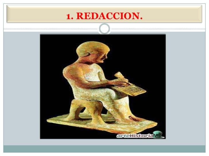 1. REDACCION.