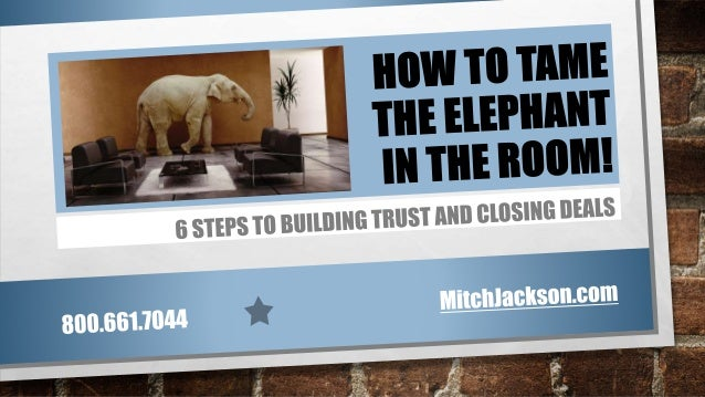 How to Tame the Elephant in the Room- 6 steps to build trust and close deals!