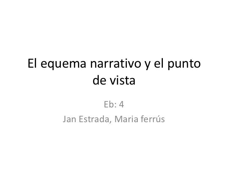 El equemanarrativo y el punto de vista<br />Eb: 4<br />Jan Estrada, Maria ferrús<br />
