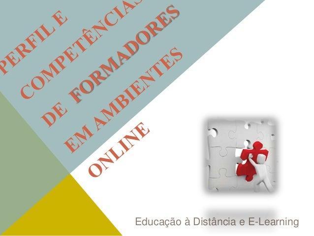 Educação à Distância e E-Learning