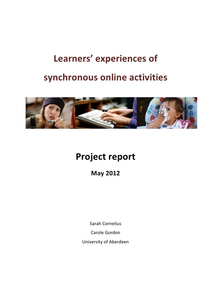 Learners'	  experiences	  of	         synchronous	  online	  activities	  	                                 ...