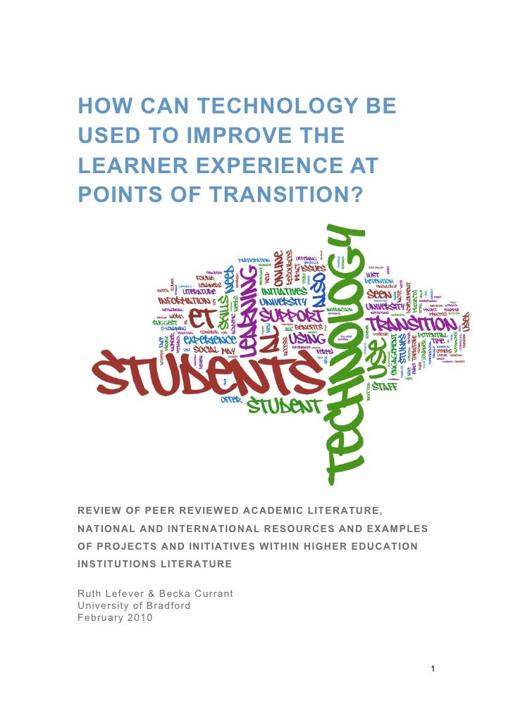 How can technology be used to improve the learner experience at points of transition?