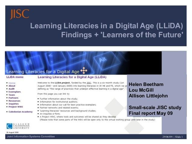 Learning literacies presentation ELESIG