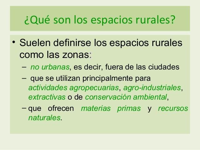El espacio rural 3 eso for Cuales son las caracteristicas de un mural