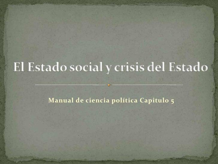 Manual de ciencia política Capitulo 5